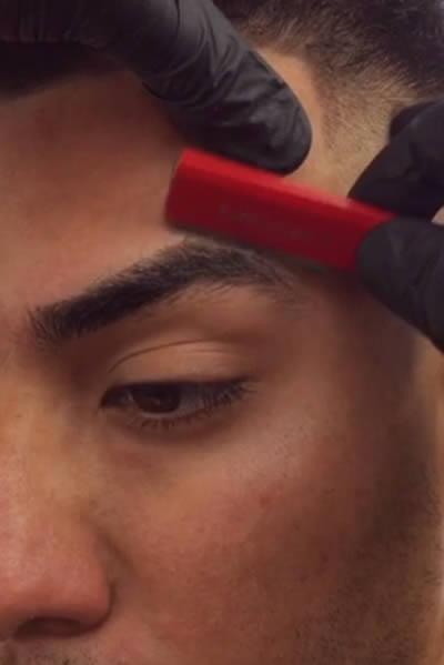 eyebrow line up men weston