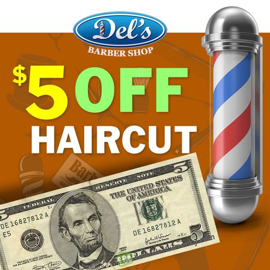 $5 Off Haircut in Weston from Del's Barber Shop